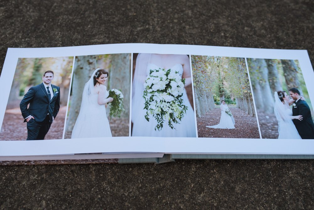 Fine Art Wedding Album with Image & Fabric Cover | Melbourne Wedding Photography | The Coffee Table Book | Sydney Wedding Album Designers