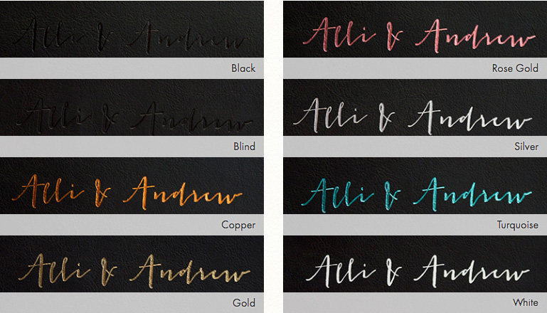 Foil Colours For Embossing - choose from Black, Copper, Gold, Rose Gold, Silver, Turquoise, White or Blind (clear).