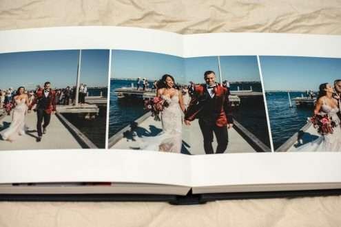 Leather Wedding Album With Custom Embossing, Australian Wedding Album Designer