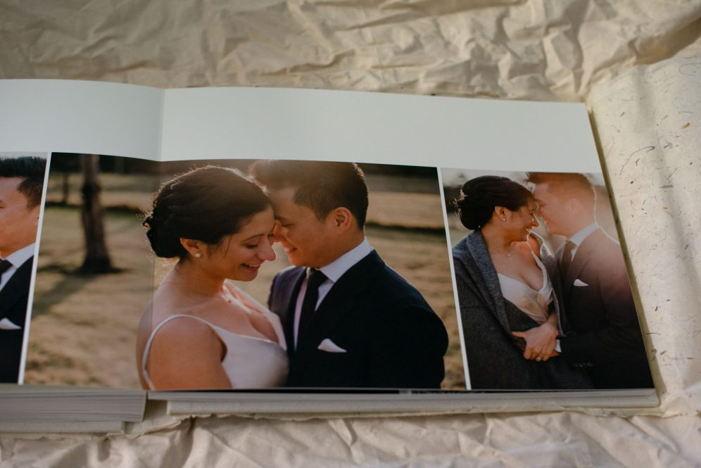 Linen Wedding Album with Gold Foil Embossing - Album Design